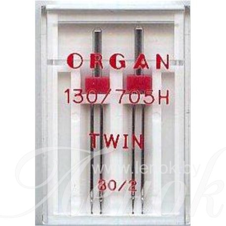 ORGAN TWIN игла двойная №80/2