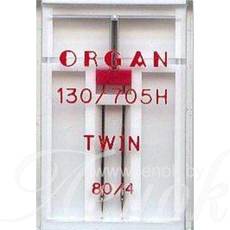 ORGAN TWIN игла двойная №80/4