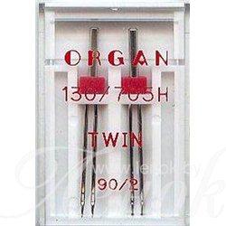 ORGAN TWIN игла двойная №90/2